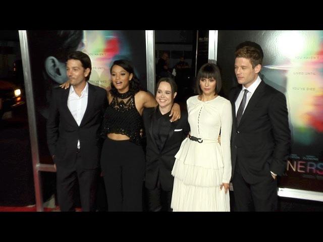 Flatliners World Premiere Ellen Page, Diego Luna, Nina Dobrev Red Carpet