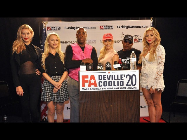 Cherie DeVille and Coolio for President in 2020 Press Conference
