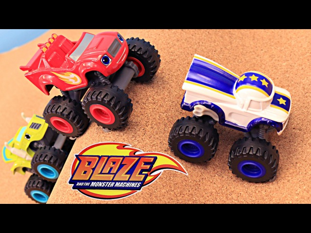 Blaze and the Monster Machines NEW Diecast Cars Toy Review Blaze Darrington Jump a Sand Dune Hill