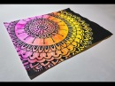 Drawing a Mandala with a Paint Marker and Gel Pen