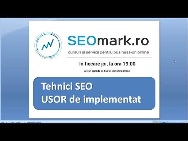 Tehnici SEO usor de implementat in 2018 - cursuri gratuite de SEO prin SEOmark.ro