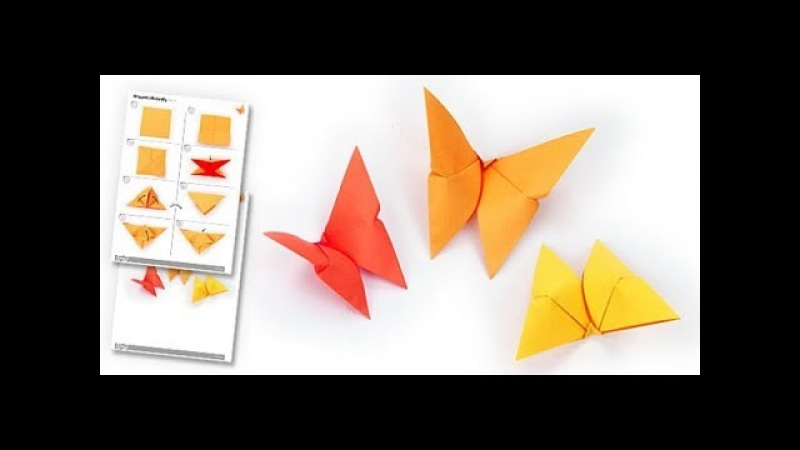 Origami paper butterfly / paper fold of oneman p