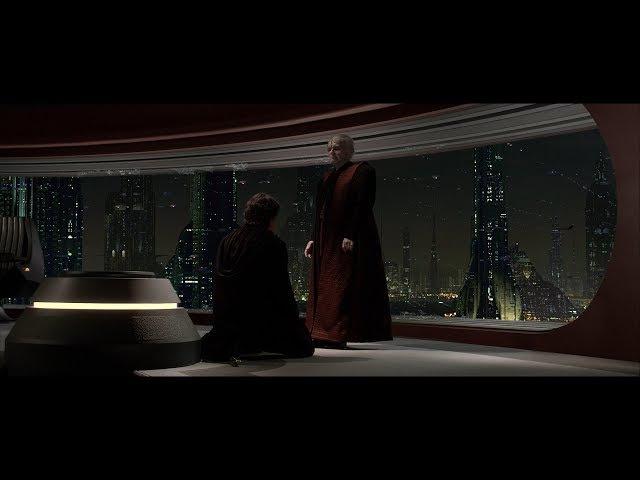 Энакин приносит клятву и становится учеником Дарта Сидиуса. Дарт Вейдер. HD