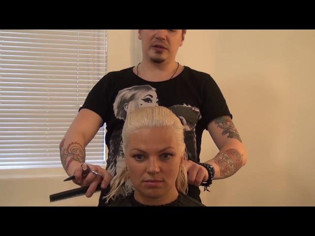 Урок для парикмахеров. Мастер класс по стрижке боб каре. Артем Любимов. Прическа ...