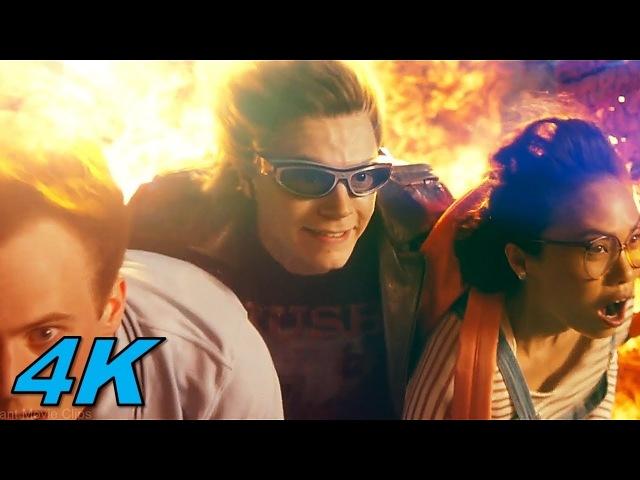 Quicksilver Scene | X-Men Apocalypse (2016) Movie Clip 4K