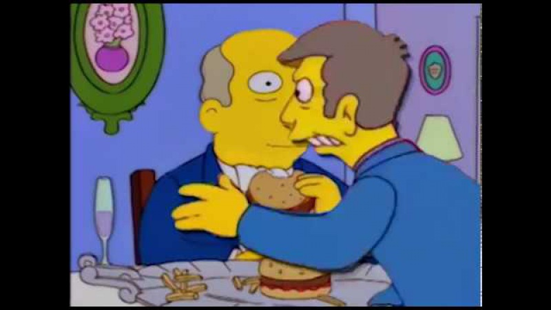 Steamed Hams but it's an incredibly awkward date and then things get 'Steamy'