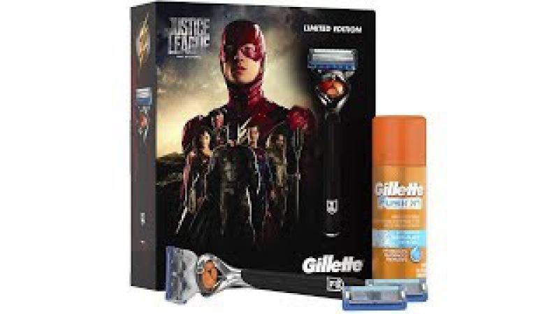 Unboxing станка Gillette по фильму Лига Справедливости