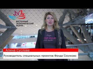Алина Суслова, руководитель специальных проектов Фонда Сколково, приглашает тебя на Форум молодых предпринимателей.