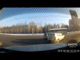 ДТП на Космическом, Омск (08.02.2018)