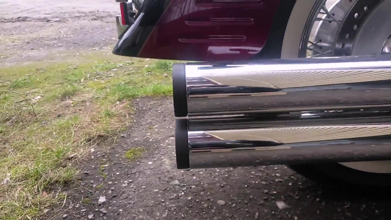 Hard Krome 3'' Big Straights 45-2830B Honda VTX 1800R,S с доработанными флейтами