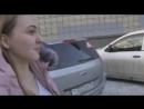Милая девушка в розовом пальто за Грудинина в Президенты России Народ его так любит Nice Russian Girl Supports Pavel Grudi