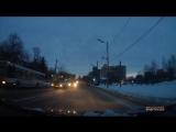 ДТП в центре Перми: два автобуса и легковушка. 25 января