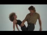 Дженифер Грей и Патрик Суэйзи репетируют Грязные танцы. Jennifer Grey e Patrick Swayze