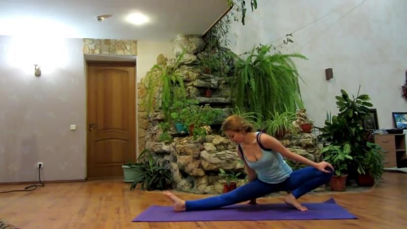 Эффективная растяжка на шпагат за 10 минут. Stretching the splits