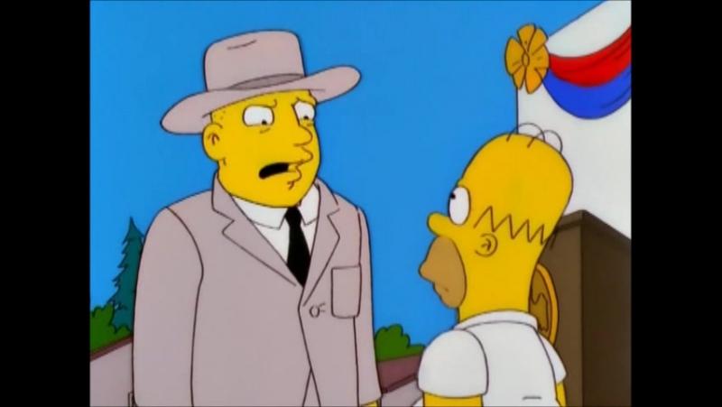 Гомер в школе телохранителей