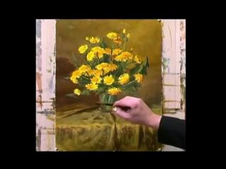 Цветы акварелью - Рисуем Одуванчики. Андрияка С.Н.