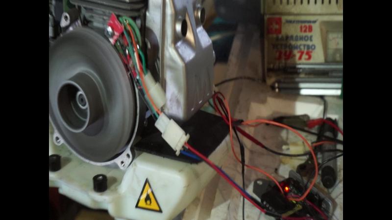 Запуск 2Т моторчика от коммутатора ВАЗ-2108 датчик от вентилятора