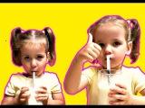 Вкусняшки. Трубочки для молока со вкусом шоколада, клубники и ванили