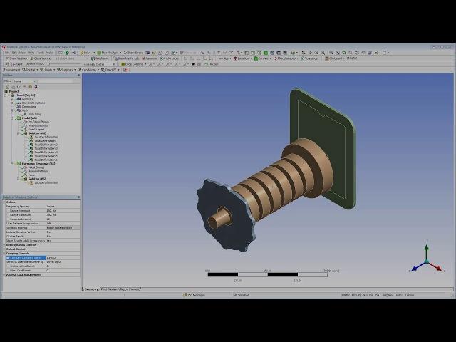 ANSYS Mechanical Vibration Housing Noise