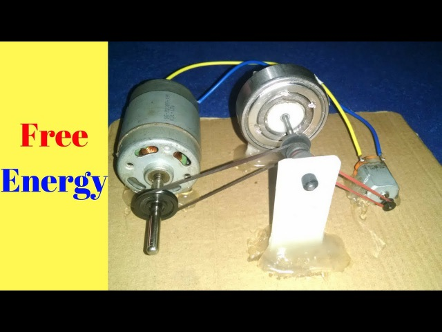 Free Energy_ Recycling 2 Motors With Flywheel Self Running Generator 100% New Technology 2018