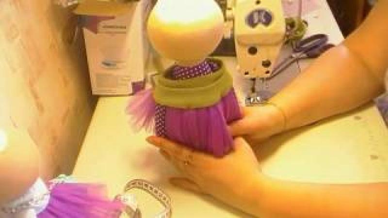 DIY:снуд из трикотажа для куклы