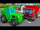 Tractor for Kids TRACTOR i ZABAWKI dla dzieci Pracowity Traktorek w Mieście Ciężarówek Kreskówki