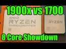 Threadripper 1900x vs Ryzen 7 1700 - 8 Core AMD Showdown!