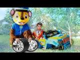 Bad Baby Ride on Power Wheel Fell off Changing Wheel Вредные детки Щенячий патруль Видео для детей