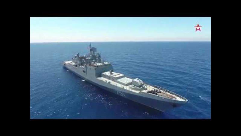 Фрегат Адмирал Эссен Черноморского флота в работе | © 2017