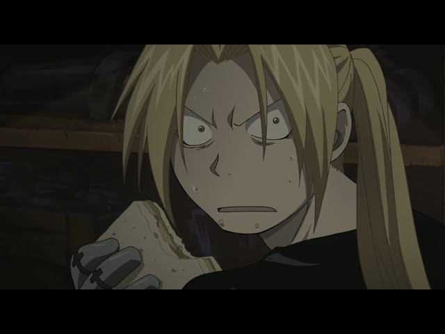 Fullmetal Alchemist: Brotherhood - Awkward Sandwich Eating