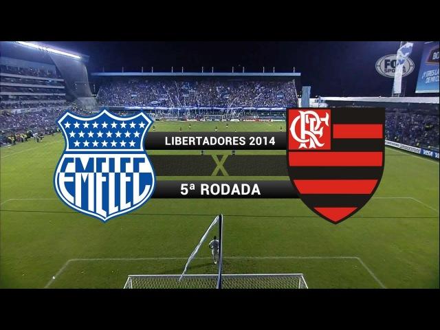 Gols Emelec EQU 1 x 2 Flamengo Libertadores 2014 02 04 2014