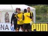 Borussia Dortmund teammates Ousmane Dembélé and Roman Bürki CLASH in training 31/07/2017 😲😲
