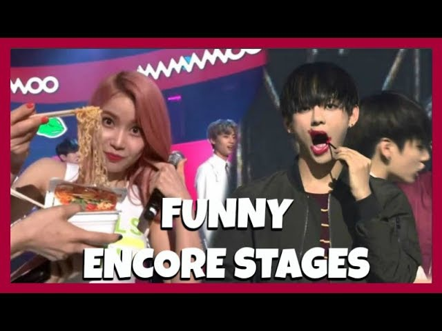 KPOP IDOLS vs ENCORE STAGES (BEING WEIRD FUNNY) - EXO BTS TWICE SHINee GOT7 ETC