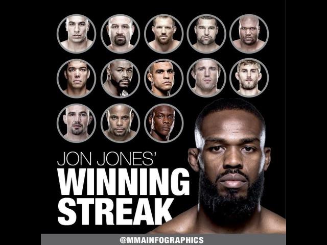 Победная полоса Джона Джонса.