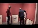 Подготовка экспозиции к открытию выставки Бориса Жутовского портреты лаки и о