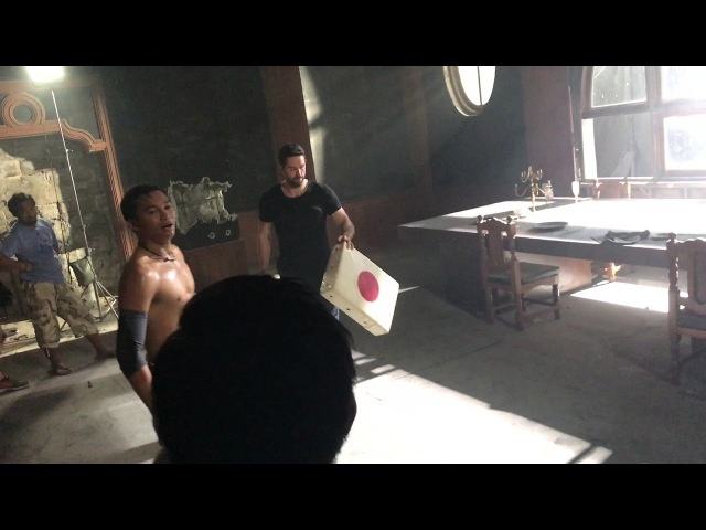 Tony Jaa test with Scott Adkins