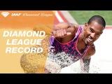 Christian Taylor jumps a HUGE 18.11 in the Men's Triple Jump - IAAF Diamond League Eugene 2017