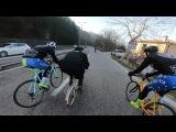 full video of priest on GRAZIELLA vs cyclist - absurd