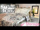 Doll craft DIY BEDROOM bed nightstand decor