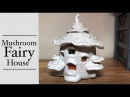DIY DAS Paper Clay Fairy House Lantern/Jar / Toadstool Mushroom House Tutorial Craft Idea