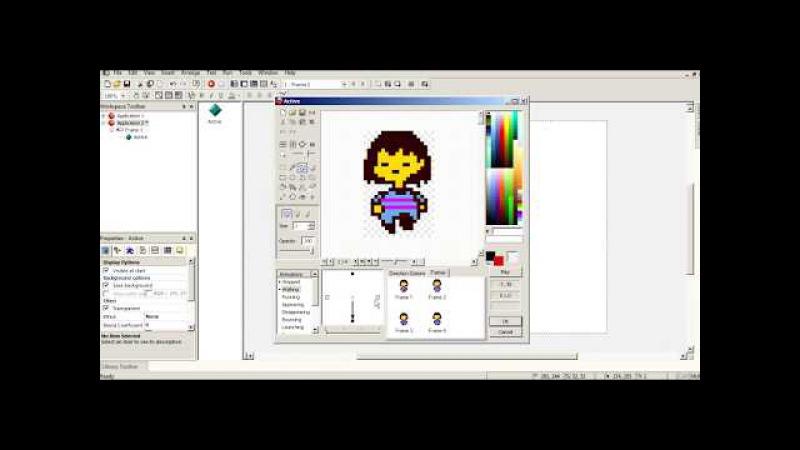 Как сделать Пародию на Андертейл в ClickTeam Fusion 2.5 1 - Стены, игрок и переход между ко ...