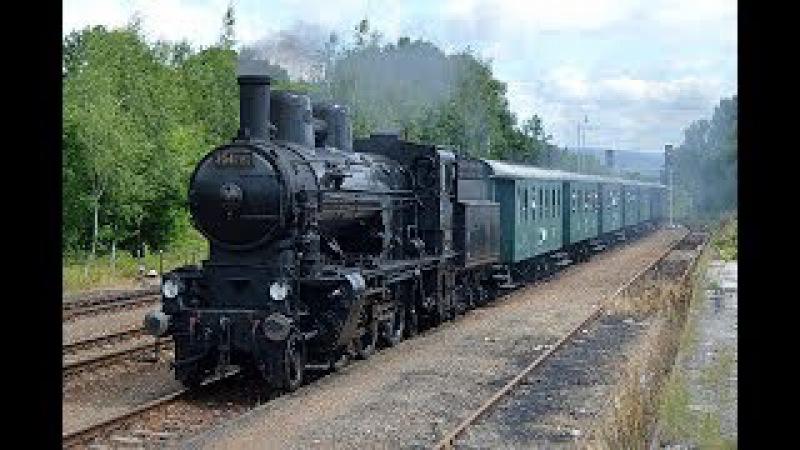 Parní vlak / 354 7152 parní rychlík Tanvald - Praha 3.7.2017