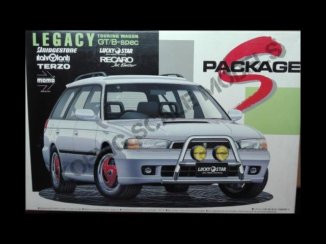 Обзор Subaru Legacy TOURING WAGON GT/B-spec Aoshima 1/24 (сборные модели)