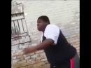 Fat Black guy dancing