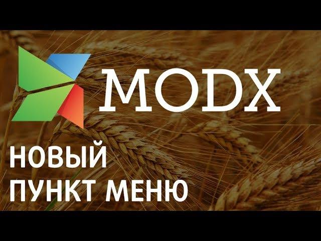 Создание пункта меню с простой страничкой на Modx «Ядвига:Стартовый пакет»