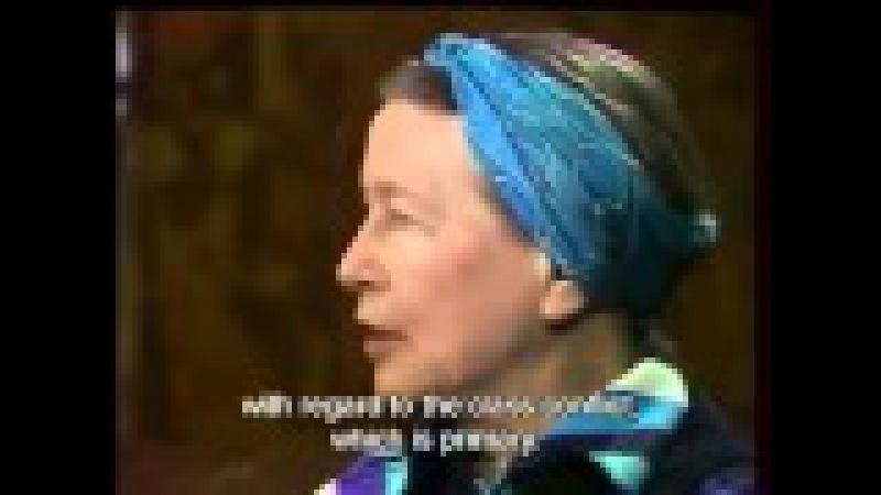 Simone de Beauvoir: 1975 Interview (English Subs)