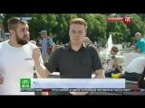 Корреспондент НТВ получил по лицу от десантника в прямом эфире(драка ВДВ)