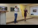 Выступление Евгении Романовой и Юрия Шикова а музее на выставке