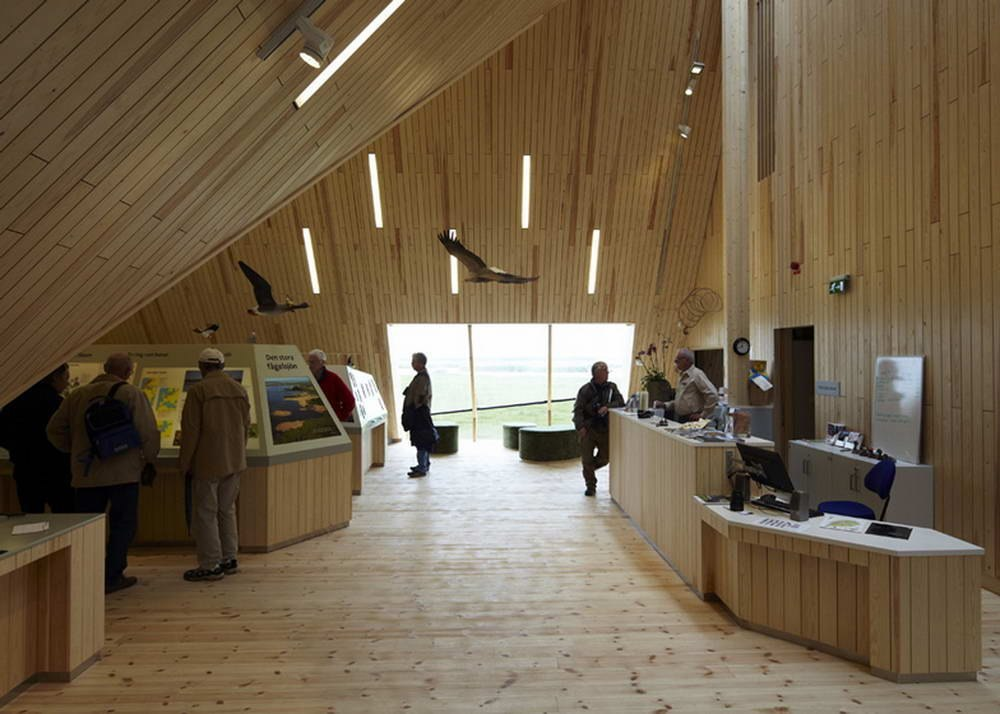 Центр обслуживания посетителей (Visitor Centre) в Швеции от Wingårdhs.