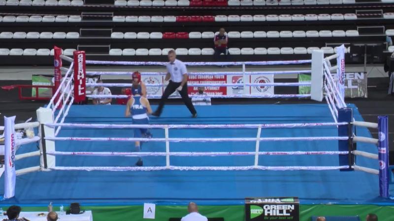 ALEKSEI KISELEV (RUS) - ENZO GRAU (FRA) 56kg 23.10.17